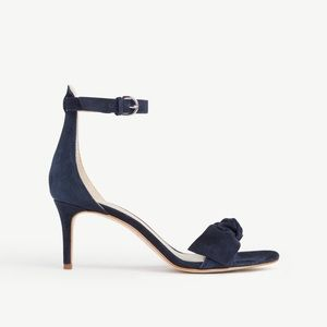 Ann Taylor Suede Erica Bow Heels